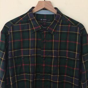 Cremieux   Green Tartan Button Down Shirt Size XL